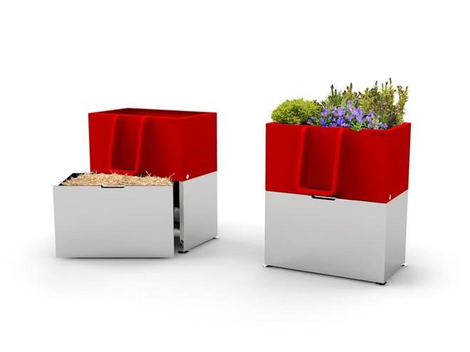 Criado pela empresa francesa Faltazi, o Uritrottoir é uma floreira criada para cidades que sofrem com quem faz xixi na rua. | Reprodução/http://uritrottoir.com/ /