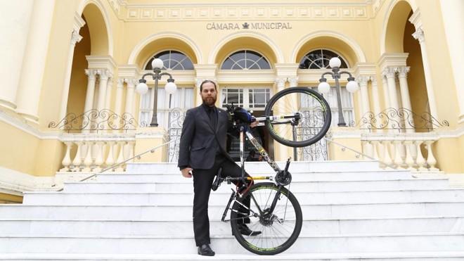 Goura (PDT) encabeça nova frente pelo protagonismo das bikes na cidade | Aniele Nascimento/Gazeta do Povo