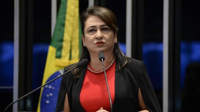Kátia Abreu, ex-ministra da Agricultura, discursa no Senado | Jane de Araújo/Agência Senado
