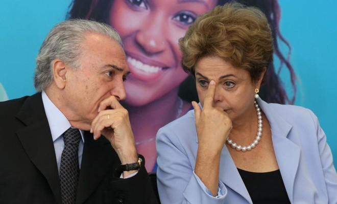 Temer (à esq.)e Dilma | Lula Marques/Agência PT