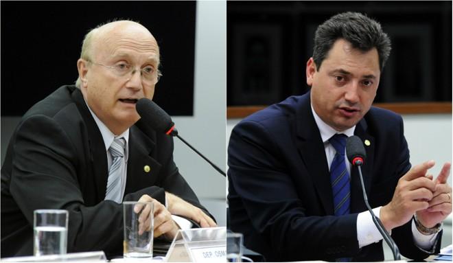 Osmar Serraglio e Sérgio Souza, deputados federais pelo Paraná | Luis Macedo e Alex Ferreira/Câmara dos Deputados/Arquivo