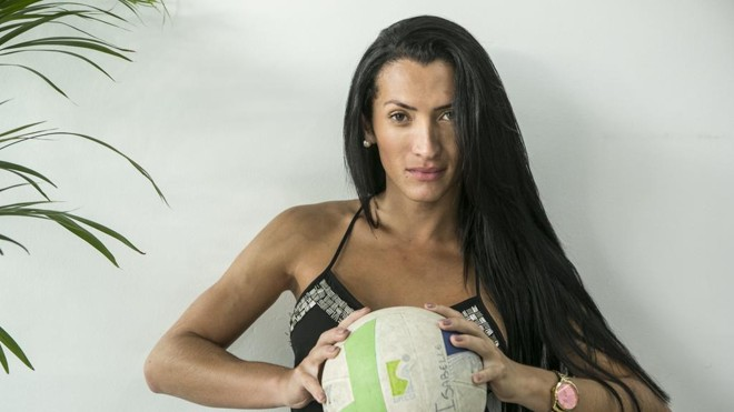 Isabelle Neris defende o clube Voleiras. | Marcelo Andrade/Gazeta do Povo