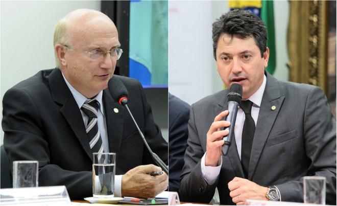 Osmar Serraglio (à esq.)e Sérgio Souza, ambos deputados federais pelo PMDBdo Paraná | Montagem - Luis Macedo Antonio Augusto/Câmara dos Deputados