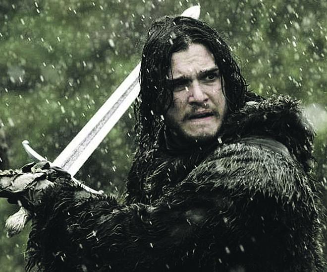 O ator Kit Harington, que interpreta Jon Snow, em ação. | Divulgação/HBO