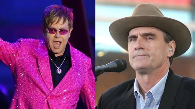 Elton John e James Taylor: lendas vivas da música dividem o palco   /