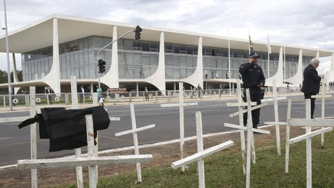 Protesto de policiais em Brasília surtiu efeito e categoria terá regra mais branda. | Antonio Cruz/Agência Brasil