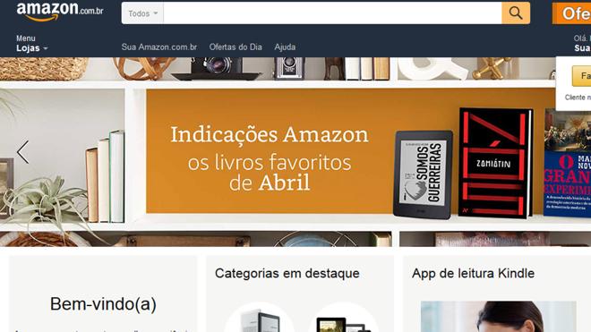 d8f507fdb Amazon lançou seu marketplace de livros no Brasil | Reprodução/Site/