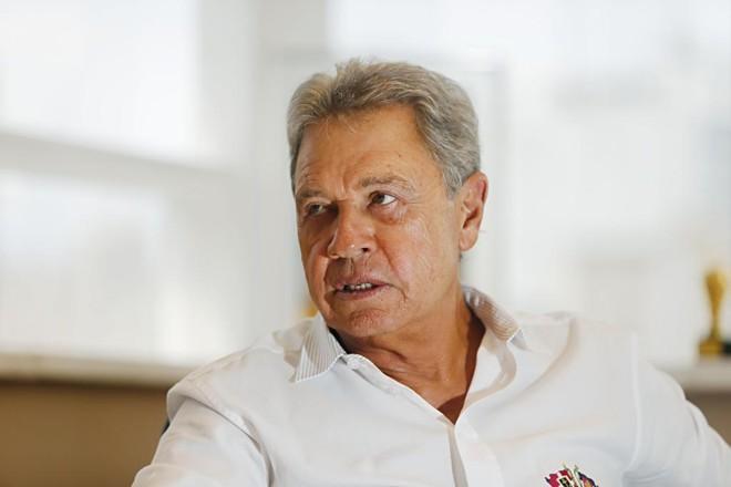 Joel Malucelli, presidente de honra do Jotinha, admite a possibilidade de o clube deixar o futebol em definitivo. | Albari Rosa/Gazeta do Povo