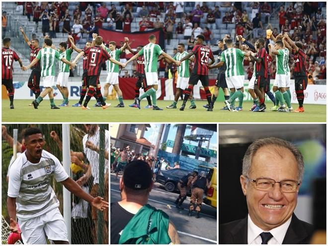 A união de Atlético e Coritiba no Atletiba que não ocorreu, Getterson, o incidente que vitimou o torcedor do Coxa e o presidente da FPF, Hélio Cury. | /