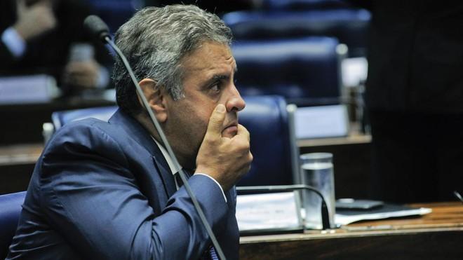 Aécio Neves foi gravado pedindo R$ 2 milhões ao empresário Joesley Batista. | Geraldo Magela/Agência Senado