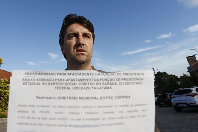 Fábio Marcon: abaixo-assinado contra Takayama já tem 120 assinaturas. | Albari Rosa/Gazeta do Povo