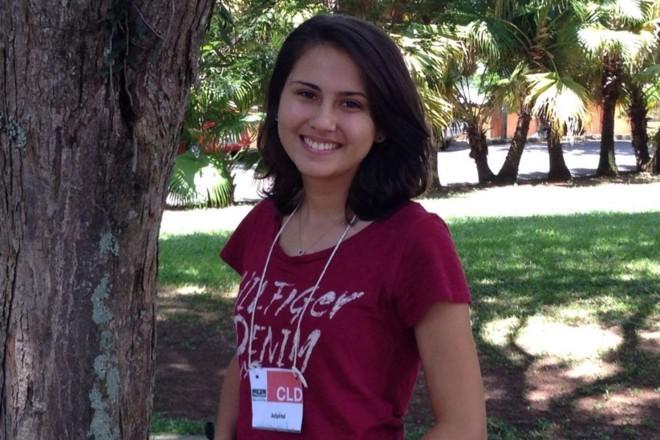 Julyana Néris, em Atibaia (SP), durante curso feito em ano sabático | Arquivo pessoal