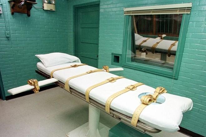 "A ""câmara da morte"" da Penitenciária Estadual de Huntsville, no Texas.   Paul Buck    /AFP"