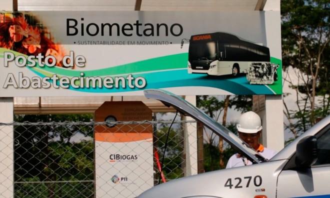 Fábrica de biometano da Itaipu Binacional  abastece veículos da própria empresa. Ideia é que produtores rurais utilizem a tecnologia para produzir energia nas propriedades   Divulgação/Itaipu