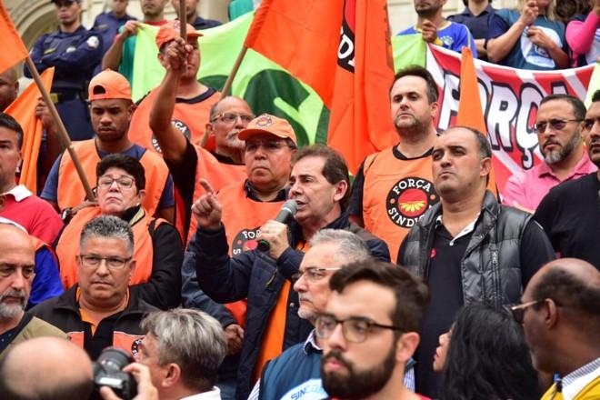 Força Sindical participa do 'Dia de Atos, Paralisações e Greves' em protesto contra as reformas trabalhista, da Previdência e contra a terceirização, em abril | Força Sindical/Divulgação