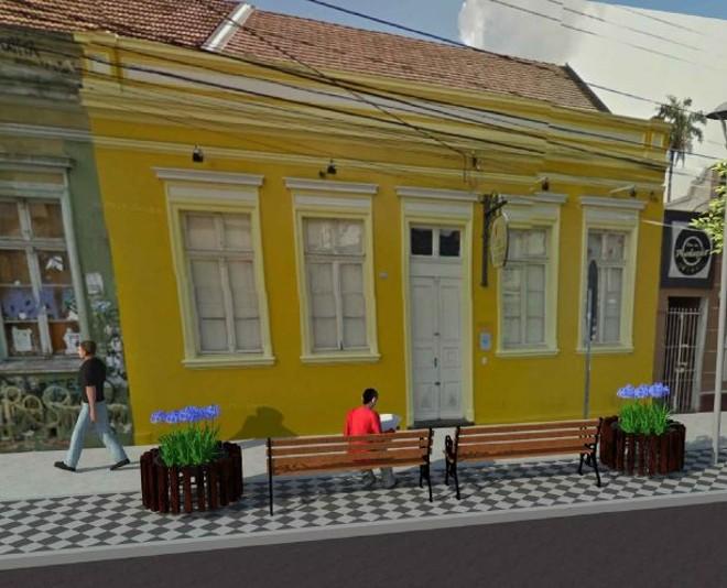 Perspectiva de como ficará a Trajano Reis: calçada será concreto usinado, com bancos e rampas de acesso. | Ippuc/