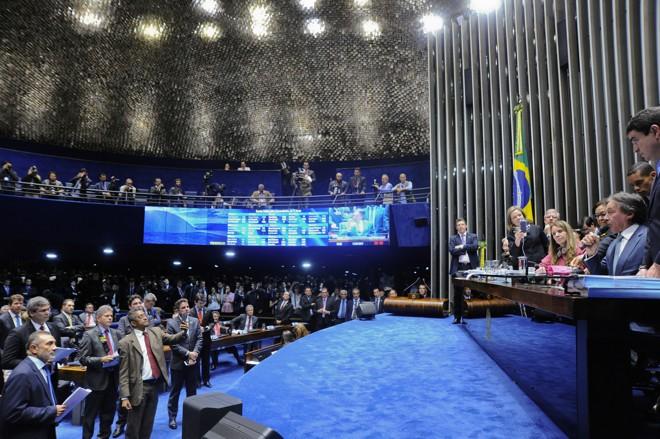 Plenário do Senado aprovou a reforma trabalhista, uma vitória para o governo de Michel Temer   Geraldo Magela/Agência Senado