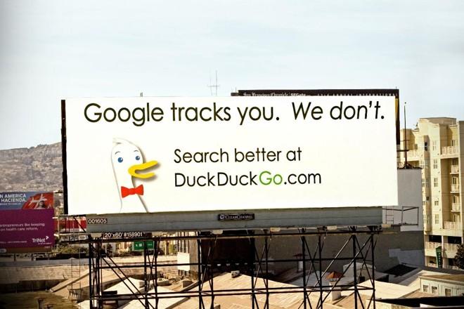 Outdoor do DuckDuckGo em San Francisco | DuckDuckGoDivulgação
