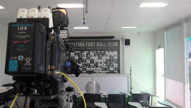 Sala de imprensa do Coritiba no CT. | /Julio Filho/Gazeta do Povo