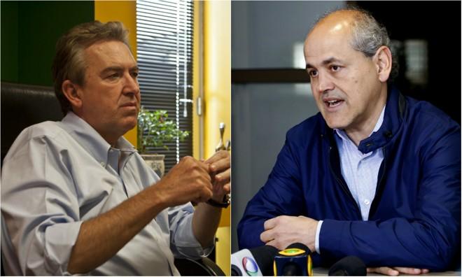 Luciano Ducci (à esq.) e Gustavo Fruet:ambos ex-prefeitos de Curitiba. | Montagem - Marcelo Andrade e Luis Henrique Sciamanna/Gazeta do Povo