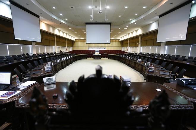 A sala onde são realizadas as reuniões do Pleno e do Órgão Especial do TJ-PR, em Curitiba. | Jonathan Campos/Gazeta do Povo