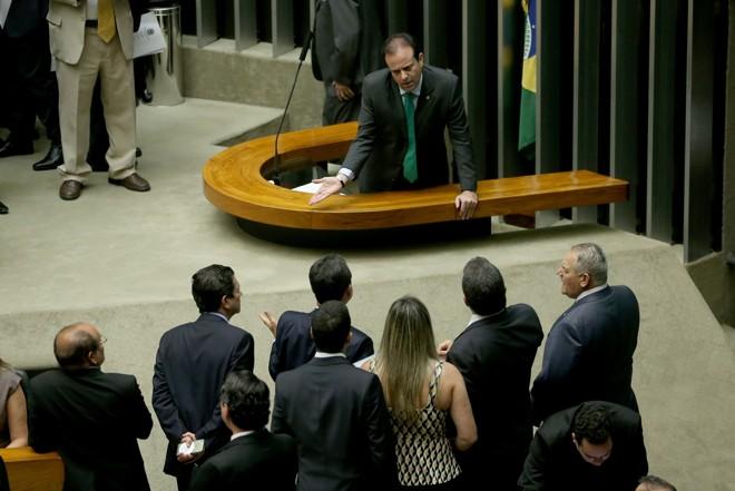 O líder do governo André Moura (PSC-SE): medida provisória pode caducar se não for votada até 24 de agosto.   Wilson Dias/Agência Brasil