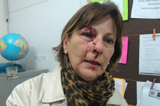 Marcia Friggi: reação violenta de estudante   Reprodução / Facebook
