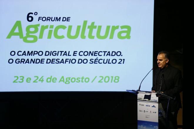 Giovani Ferreira confirmou a realização do 6º Fórum de Agricultura da América do Sul | Jonathan Campos/Gazeta do Povo