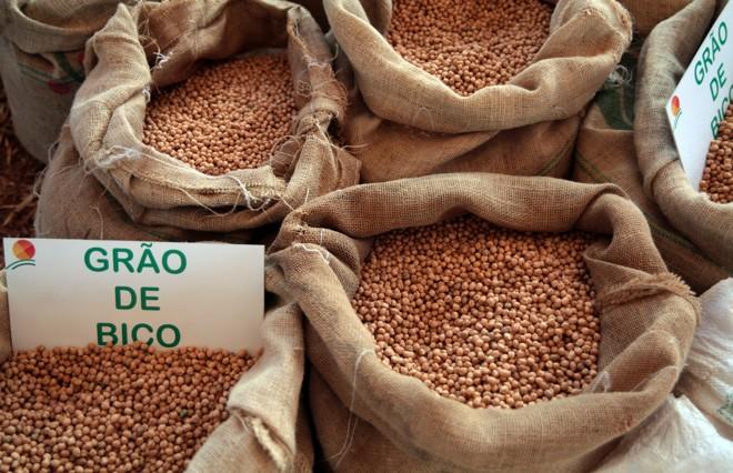 Colheita de grão-de-bico na Fazenda Alvorada, em Cristalina (GO) | Antonio Araujo/Ministério da Agricultura - Mapa