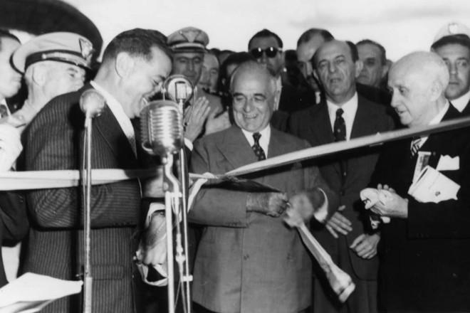Visita do então presidente Getulio Vargas a Curitiba   ARQUIVO MIS