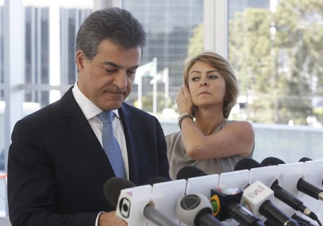 Em coletiva na semana passada, Richa se defendeu de acusações do dono da Valor. | Alexandre Mazzo/Gazeta do Povo
