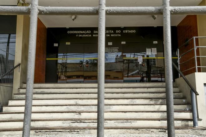 Fachada da Receita Estadual, no Centro de Curitiba. | Hugo Harada/Gazeta do Povo