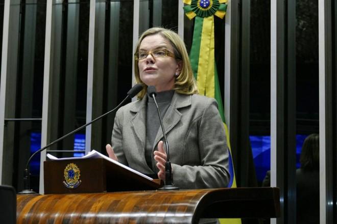 Gleisi desejava inicialmente se eleger governadora do Paraná. | Roque de Sá/Agência Senado