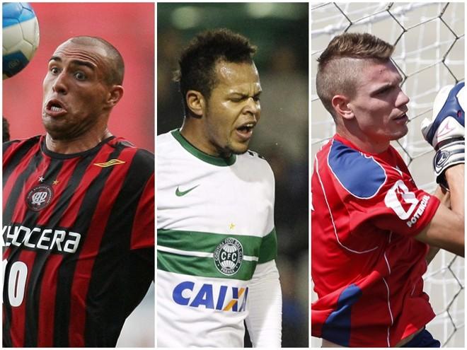 Edno, Bill e João Ricardo:passagens pelo futebol paranaense. | Arquivo Gazeta doPovo
