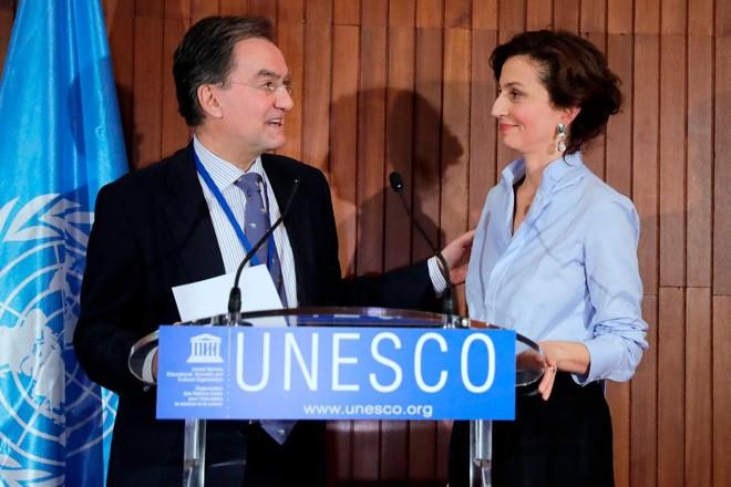 A ex-ministra das Relações Exteriores francês, Audrey Azoulay, foi eleita para liderar a UNESCO | THOMAS SAMSON/AFP