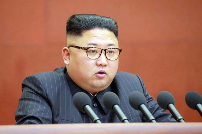 O ditador norte-coreano,Kim Jong-Un | STR/AFP