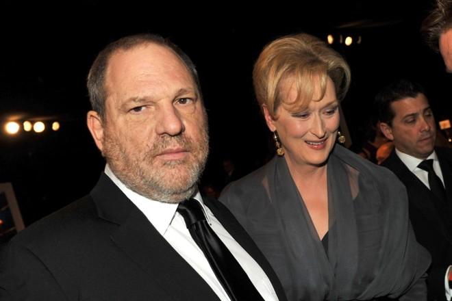 O produtor Harvey Weinstein e a atriz Meryl Streep, em Los Angeles, Califórnia   KEVIN WINTER/AFP