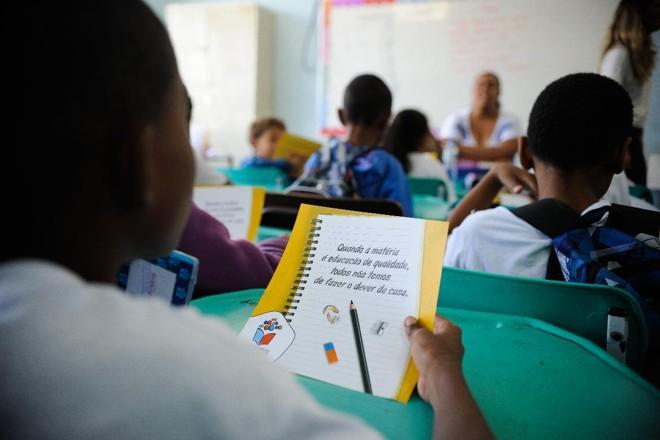 Censo Escolar 2014 apontou que 21,5% dos professores do segundo ciclo do ensino fundamental não tinham diploma de ensino superior.   Tânia Rêgo/Agência Brasil