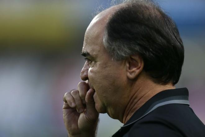 Marcelo Oliveira, técnico do Coritiba, durante o jogo com o Cruzeiro. | /Albari Rosa/Gazeta do Povo