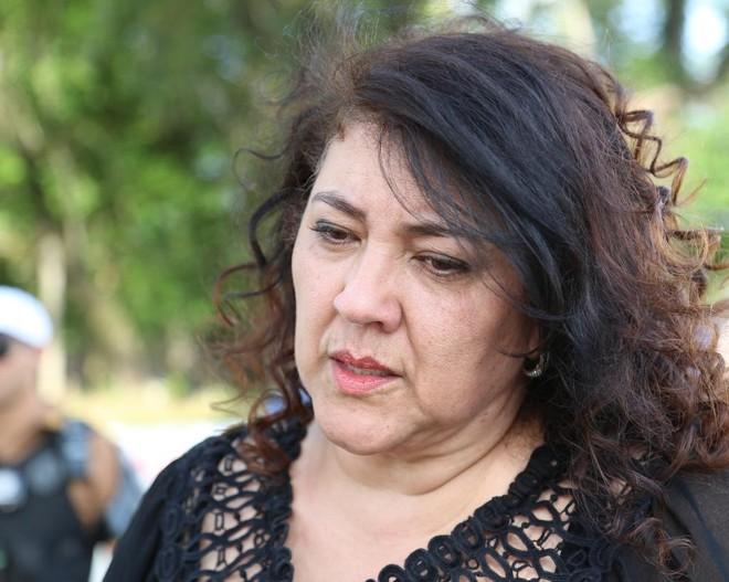 Christiane Yared  acompanhou a perícia e reconstituição realizadas na quinta-feira (12) | Giuliano Gomes/Tribuna do Paraná