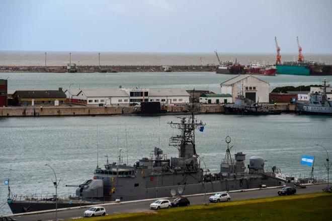 Vista da base naval argentina em Mar del Plata | EITAN ABRAMOVICH/AFP