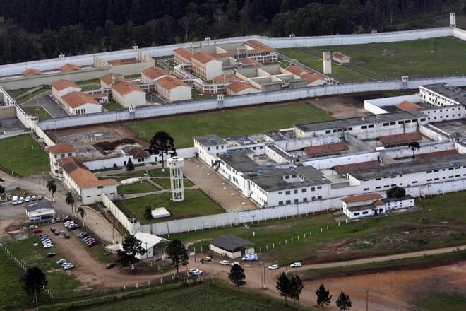 Vista aérea do Complexo Penitenciário de Pirarquara, na RMC   Albari Rosa/Gazeta do Povo/Arquivo