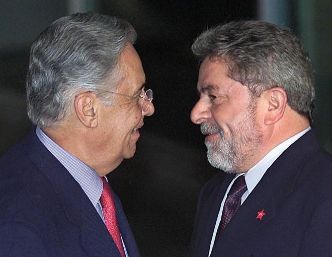 FHC e Lula: segundo o estaleiro, já havia corrupção na Petrobras durante o governo tucano. Mas os valores da propina aumentaram muito na gestão do PT. | Evaristo Sá/AFP/Arquivo