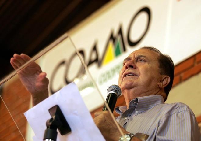O presidente da Coamo, Aroldo Galassini: faturamento da cooperativa em 2017  deve ser similar  ao ano anterior | HUGO HARADA/GAZETA DO POVO