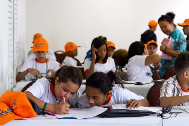 Etapa das Olimpíadas da Língua Portuguesa, organizadas pelo Itaú Social   Reprodução