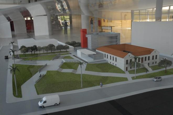 Maquete do Memorial da Anistia: obra nunca concluída | Reprodução / UFMG