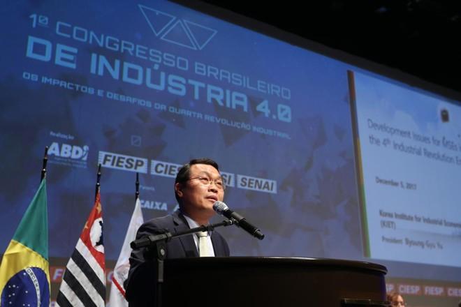 Byoung Gyu Yu, presidente do Instituto Coreano de Economia Industrial e Comércio – KIET (Coréia do Sul). | Cesar Ogata