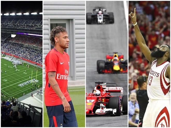 NFL, Neymar noPSG, Fórmula 1 e NBA: outras atrações do esporte em 2018. | /