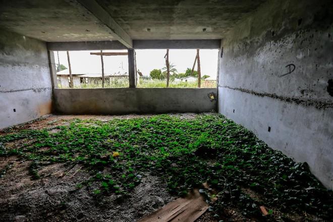 Obras abandonadas daEscola Estadual Francisco Pires Machado, em Ponta Grossa, uma das afetadas pelo escândalo da Quadro Negro | Jonathan Campos/ Gazeta do Povo