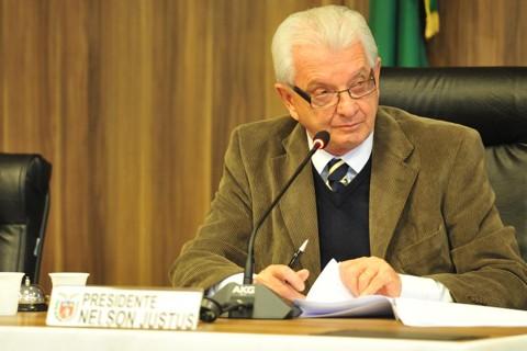 Deputado Nelson Justus (DEM), na Comissão de Constituição e Justiça da Assembleia Legislativa | Pedro de Oliveira/Assembleia Legislativa/Arquivo